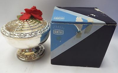 IANTHE Silver Plated Rose Bowl With Original Box - B80