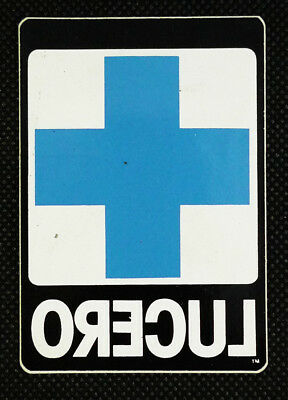 Black Label Lucero Blue Cross Logo Skateboarding Promotional Sticker