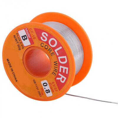 50g 0.8mm 63/37 Tin lead Solder Wire Rosin Core Soldering 2% Flux Reel Tube S&K