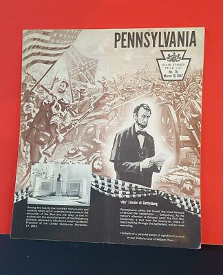 1961 State Stores Price List Pennsylvania Lincoln Gettysburg On Cover booklet.