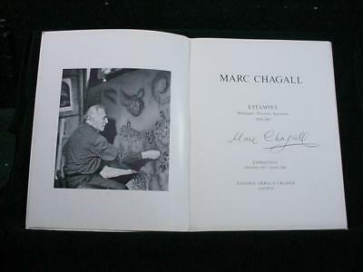 NobleSpirit NO RESERVE {3970}Marc Chagall Autograph on Exhibit Program