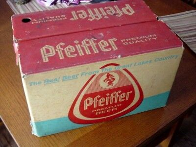 1950s PFEIFFER BREWING Detroit MICHIGAN Mich. MI. (24) beer bottle Delivery CASE