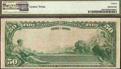 Large 1902 $50 Dollar Kansas City National Bank Note Currency Paper Money Pmg