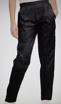 Landau 8320 Women Scrub Pants Black Medium NEW elastic waist tapered leg