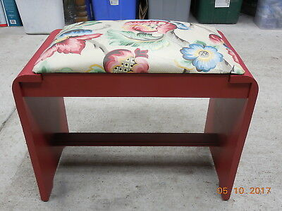 Vintage 1930s-40s Art Deco Wood Waterfall Style Dresser Bench #