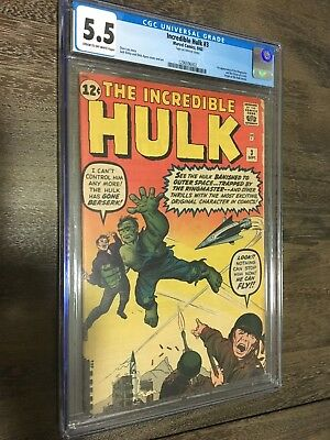 Incredible Hulk #3 CGC 5.5 Sept. 1962 New Case first Ringmaster Famous Book