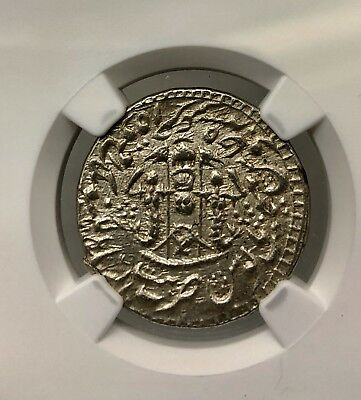 Ah1268/5 India Rupee Awadh Ngc Ms62