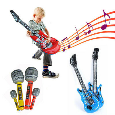 Inflatable Musical Instruments Toy Guitar/Microphone Kids Stage Performance Prop