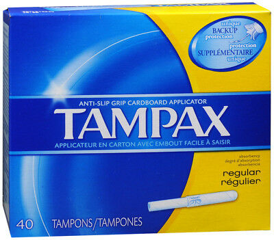 Tampax Jetables dans les Toilettes Taille Standard Tampons 40 Ct, Anti Dérapage