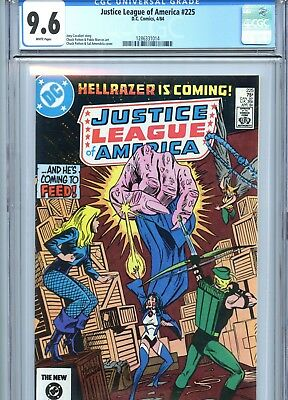 Justice League of America #225 CGC 9.6 White Pages DC Comics 1984
