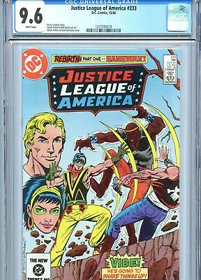 Justice League of America #233 CGC 9.6 White Pages DC Comics 1984