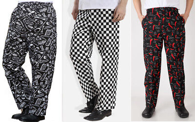 Chef Trousers Chef Black And White Check Chef Pants Uniform Unisex Size M-Xxxl