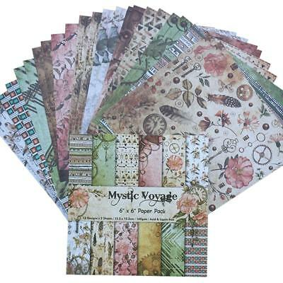 24 sheets/set scrapbook album card making Background single-sided pattern paper