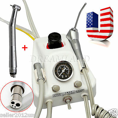 USA Stock Dental Air Turbine Unit Work w/ Compressor+High Speed Handpiece 4Hole