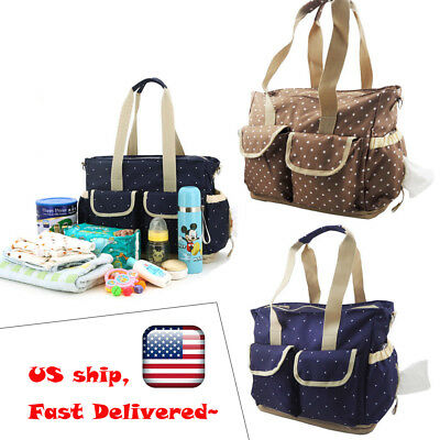 Multifunctional Mommy Nappy Bag Baby Changing Diaper Bag Large Capacity