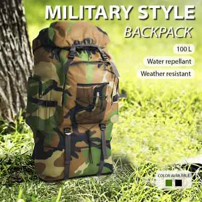 vidaXL Army-Style Backpack XXL 100 L Camping Travel Luggage Bag Multi Colours