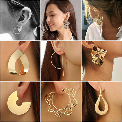 2018 Fashion Large Circle Geometry Metal Earring Ear Stud Earring Womens Jewelry