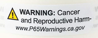 "California Proposition Prop 65 Warning Labels 1/2"" x 1.5 Inch  500 Stickers"