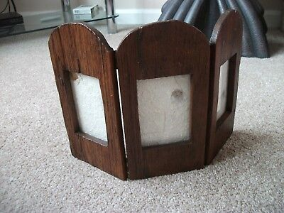 Vintage Hand-Carved  Solid Wooden ( 3 ) Photo Frames- From Thailand- Heavy