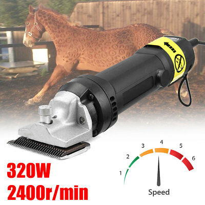 320W Electric Sheep Goat Horse Clipper Trimmer Shearing Grooming Farm Equipment