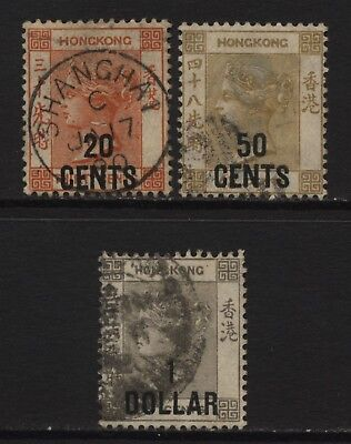 Hong Kong Collection 3 QV Surch Values Used
