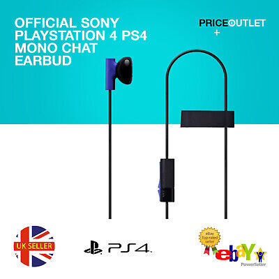 Official Sony Playstation 4 PS4 Mono Chat Earbud Earphone with Mic Headset (L9