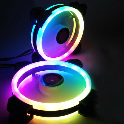 120mm Computer Case PC Cooling Fan RGB Speed Adjustable LED Quiet Cooler