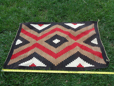 ~*~Old Farm Attic Find~*~ Vintage Native American Indian Woven Rug #1A Navajo