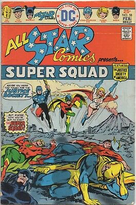 ALL-STAR COMICS #58, POWER GIRL first appearance (DC 1976) Justice Society of Am