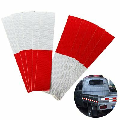 Trailer Truck Red-white Reflective Strip Safety Stickers Night Warning Tape DIY