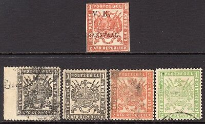 Transvaal 5x Early Stamps