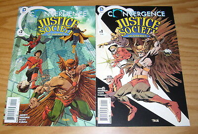 Convergence Justice Society of America #1-2 VF/NM complete series - dan abnett