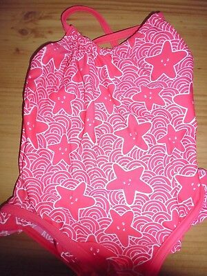Baby Girls Red Swimming Costume With Starfish Design...Age 12-18 Months