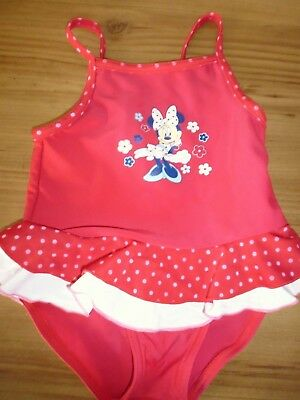Baby Girls Disney MINNIE MOUSE Red Swimming Costume ..Age 18 Months (86cms)