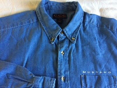 Ford Mustang Denim Shirt By Classic Car Collection/XL/Good