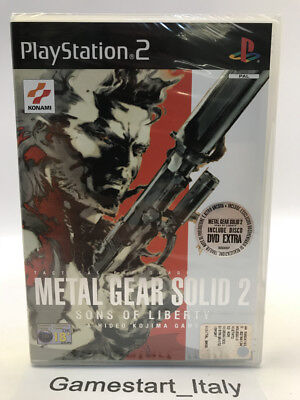 Metal Gear Solid 2 Sons Of Liberty + Dvd Extra - Ps2 - Nuovo Sigillato Pal Ita