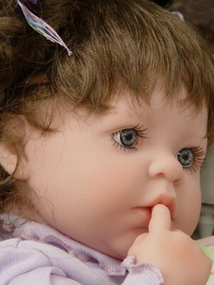 """New in Box ~ Berenguer 20"""" La Baby 15340 ~ Baby Doll with Makeover ~ Purple OF"""
