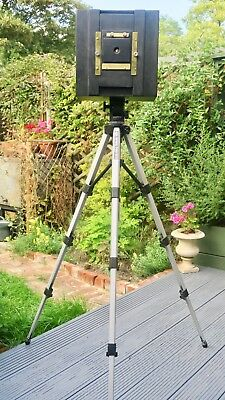 A Large format 10 x 8 pinhole camera with a difference and Tripod