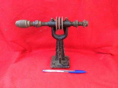 "Vintage ""Mill Falls Tools"" Chuck and Pulley stand/Lath/Tool"