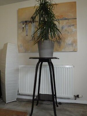 Vintage Edwardian Walnut Or Mahogany Plant Stand Torchere.