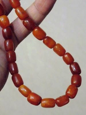 Antique natural Baltic amber stone necklace 200 years toffee amber 26 老琥珀 波羅的海琥珀