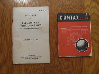 (2 Photography booklets) ---1951 - Elementary Photography ad 1950 Contax  Guide