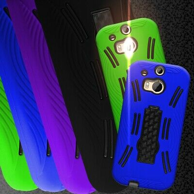 Tough Kickstand Hybrid Phone Cover Case for HTC One (M8) / M8 for Windows