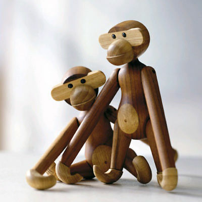 """1pc 7.87"""" Creative Wood Monkey Doll Cute Home Hanging Decoration Kids' Gift"""