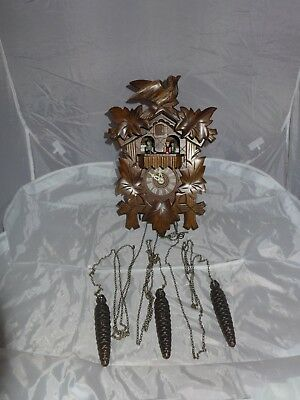 Vintage German Mapsa musical cuckoo clock Edelweiss