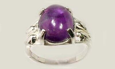 19thC Antique 3½ct Scotland Amethyst Ancient Greece Hoplite Spartan Dionysus Gem