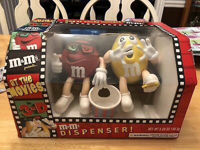 M&M Dispenser At The Movies In 3D Never Opened - Rare Black Couch Variation!