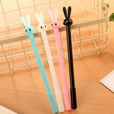 1pcs 0.38mm Cute Kawaii Plastic Gel Pen Lovely Cartoon Rabbit Pen Stationery New