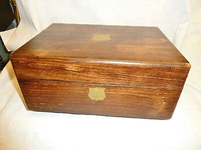 lovely victorian rosewood box refinished and lined tulip paper storage box old