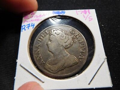 R74 Great Britain Queen Anna 1711 Shilling